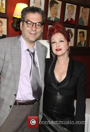Michael Musto and Cyndi Lauper