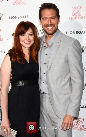 Alyson Hannigan and Alexis Denisof - Los Angeles Premiere Screening of 'Much Ado About Nothing' held at at Oscars Outdoors...