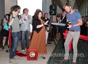 Lady Antebellum, Hillary Scott, Charles Kelley and Dave Haywood - Lady Antebellum attends a ribbon cutting ceremony for the new...
