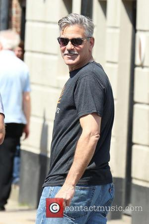 George Clooney - 'The Monuments Men' filming