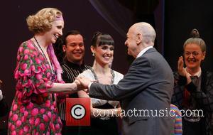 Jane Lynch, Brynn O'malley and Charles Strouse