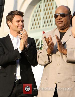 Ryan Seacrest and Stevie Wonder - The Ultimate LA Block Party hosted by President Bill Clinton at Celebrate LA! -...