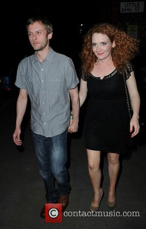 Jennie McAlpine and her boyfriend Chris - Coronation Street Cast Members and Guests depart from Brooke Vincent's Birthday Party held...