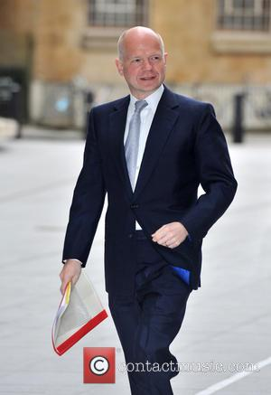 William Hague - Guests arrive at the BBC studios to appear on The Andrew Marr Show - London, United Kingdom...
