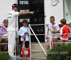 Michael Vaughn - Elizabeth Hurley and Shane Warne host a cricket match between an Australian 11 and an English 11...