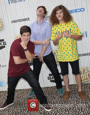 Adam DeVine, Anders Holm and Blake Anderson - Spike TV's Guys Choice Awards 2013 held at Sony Pictures Studios -...