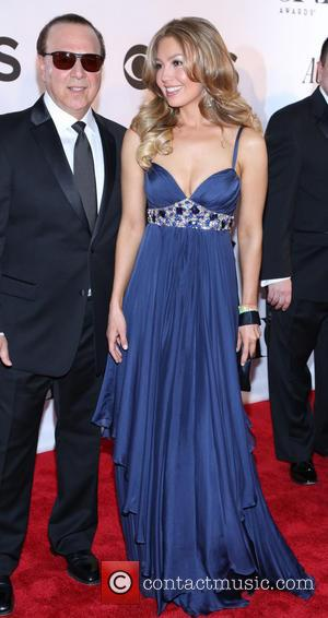 Tommy Mottola and Thalia - The 67th Annual Tony Awards held at Radio City Music Hall - Arrivals - New...