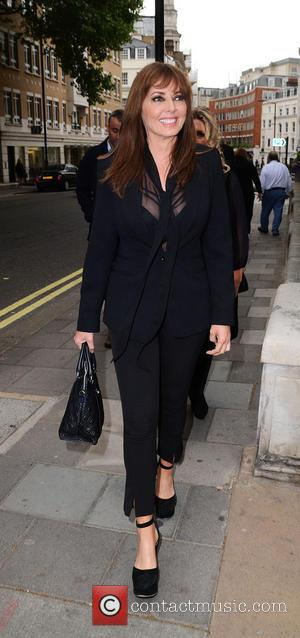 Carol Vorderman - UK Gala screening of 'Summer in February' at the Curzon Mayfair cinema- Outside Arrivals - London, United...