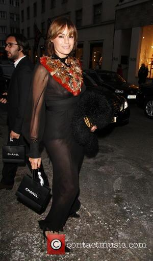 Yasmin Le Bon - Model Yasmin Le Bon has a wardrobe malfunction as she goes bra less in a see...