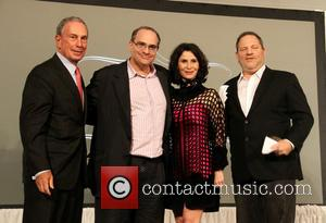 Mayor Michael Bloomberg, Bob Weinstein and Harvey Weinstein