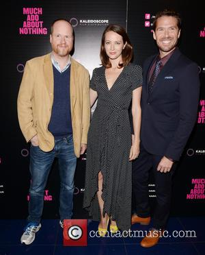 Joss Whedon, Amy Acker and Alexis Denisof - 'Much Ado About Nothing' premiere at Apollo, Piccadilly - Arrivals - London,...