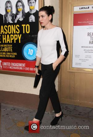 Julianna Margulies - Opening night of 'Reasons To Be Happy' at the Lucille Lortel Theatre - Arrivals - New York...