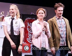 Leslie Bibb, Jenna Fischer and Josh Hamilton - Opening night of 'Reasons To Be Happy at the Lucille Lortel Theatre...
