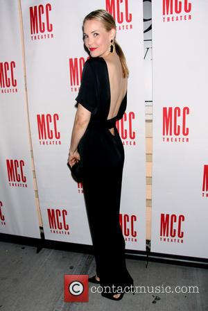 Leslie Bibb wearing Tucker by Gaby Basora - Opening night of 'Reasons To Be Happy' at the Lucille Lortel Theatre...