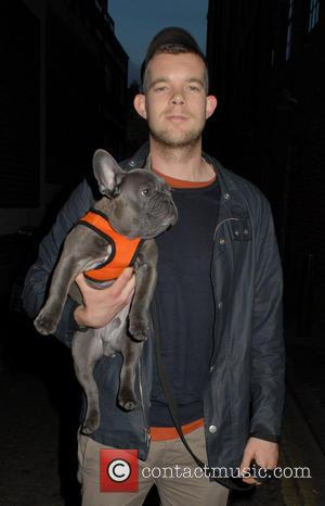 Russell Tovey - Russell Tovey out and about in Soho with his pet dog Ernie, a blue french bulldog -...