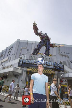 Gareth Bale - The Tottenham Hotspur player and his friends enjoyed a day at Universal Orlando Resort as Gareth is...
