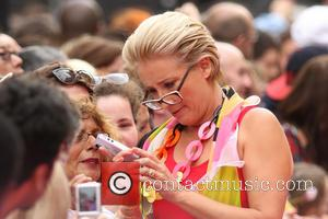Emma Thompson - Walking on Sunshine UK premiere held at the Vue cinema - Arrivals - London, United Kingdom -...