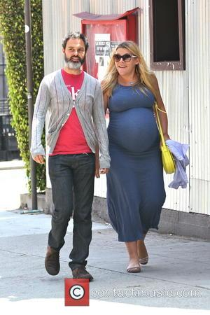 Busy Philipps and Marc Silverstein - A very pregnant Busy Philipps and husband Marc Silverstein out for lunch in West...