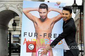 Rylan Clark - Rylan Clark and Meg Matthews take part in a photocall for PETA's 'Let's Get One Thing Straight:...