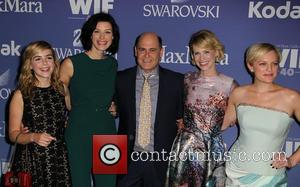 Kiernan Shipka, Jessica Paré, Matthew Weiner, January Jones and Elisabeth Moss