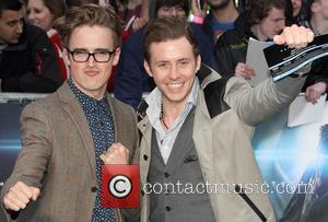 Danny Jones and Tom Fletcher - 'Man of Steel' European Premiere held at the Empire Leicester Square - Arrivals -...