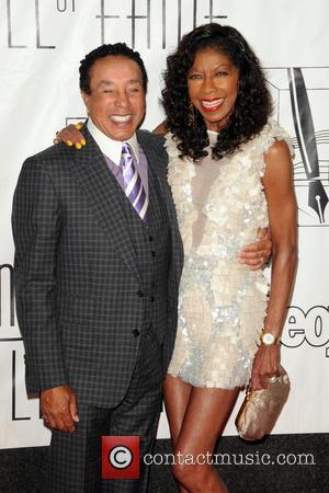 Smokey Robinson and Natalie Cole - 44th Annual Songwriters Hall of Fame - Red Carpet Arrivals - New York City,...