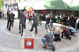 Harrods Flash Mob Dance - Flash mob dance routine at the Harrods Summer Sale launch photocall at Harrods in Knightsbridge...