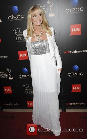 Britt Ekland, Emmy Awards, Beverly Hilton Hotel, Daytime Emmy Awards
