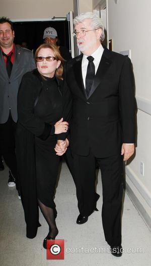 Carrie Fisher and George Lucas - The 40th Annual Daytime Emmy Awards held at The Beverly Hilton Hotel - Backstage...