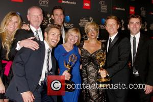 Scott Clifton, Bradley Bell, Bold and Beautiful writing team - The 40th Annual Daytime Emmy Awards held at The Beverly...