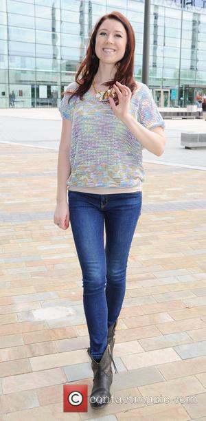 Hayley Westenra - Hayley Westenra leaves the BBC Studios at Media City after appearing on BBC Breakfas,t to promote her...