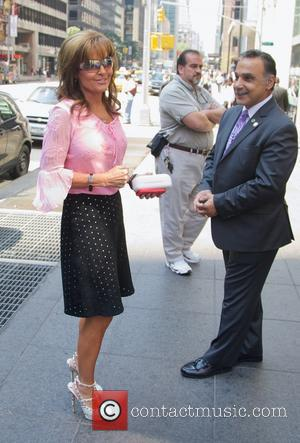 Sarah Palin - Sarah Palin and her husband outside of Fox News Studios - New York City, NY, United States...
