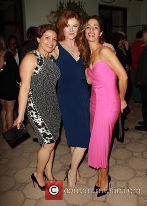 Justina Machado, Rebecca Wisocky and Ana Ortiz - Devious Maids Premiere Party held at the Bel-Air Bay Club - Inside...