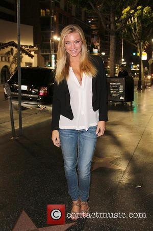 Nikki Leigh - Playboy Playmate Nikki Leigh is seen outside of Katsuya after filming her Instant Movie Review of Brad...