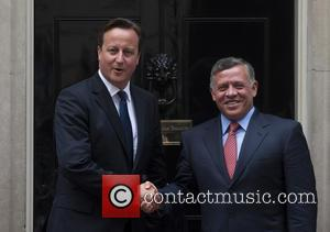 David Cameron and King Abdullah Ii Of Jordan