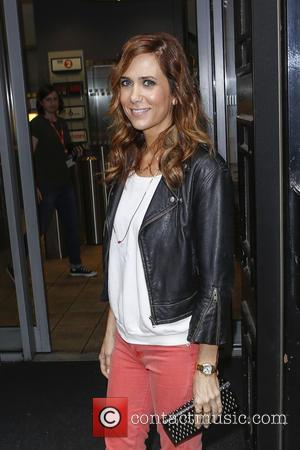 Kristen Wiig - Kristen Wiig arrives at the BBC Radio 2 studios - London, United Kingdom - Thursday 20th June...