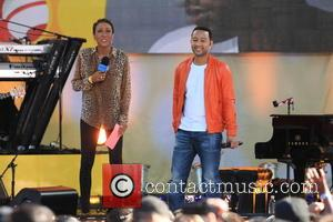 Robin Roberts and John Legend - GMA Concert Series Present John Legend at Rumsey Playfield Central Park - NYC, NY,...