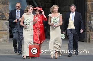 Chelsy Davy - The wedding of Lady Melissa Percy and Thomas van Straubenze held at St. Michael's Church - Alnwick...