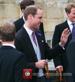 Prince William - The wedding of Lady Melissa Percy and Thomas van Straubenze held at St. Michael's Church - Alnwick,...