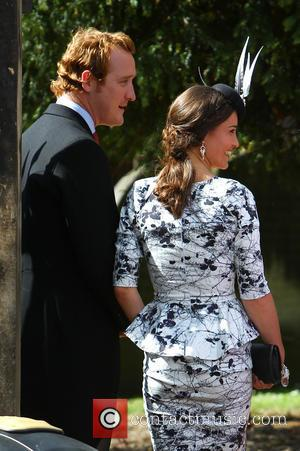 Pippa Middleton - The wedding of Thomas van Straubenzee and Lady Melissa Percy at St Michaels Church in Alnwick -...