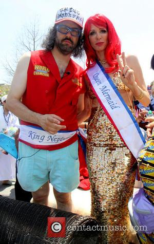 King Neptune Judah Friedlander and Queen Mermaid Carole Radziwill - 2013 Coney Island Mermaid Parade - Coney Island, New York,...