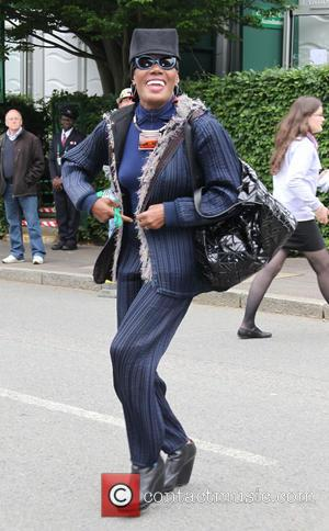 Grace Jones - Celebrities arrive at Wimbledon 2013 - London , United Kingdom - Sunday 23rd June 2013