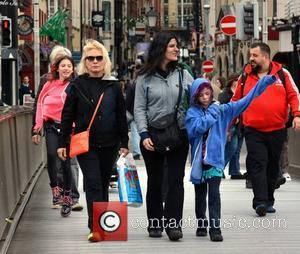 Debbie Harry, Blondie, Chris Stein, Barbara Sicuranza, Akira and Valentina - Debbie Harry aka Blondie spotted shopping in Temple Bar...
