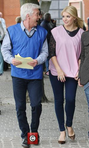 Phillip Schofield and Holly Willoughby - Celebrities filming outside the ITV studios - London, United Kingdom - Monday 24th June...