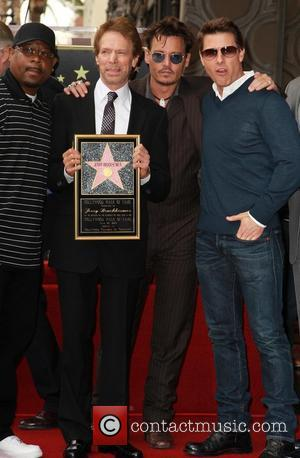 Martin Lawrence, Jerry Bruckheimer, Johnny Depp and Tom Cruise - Jerry Bruckheimer Honored On The Hollywood Walk Of Fame -...