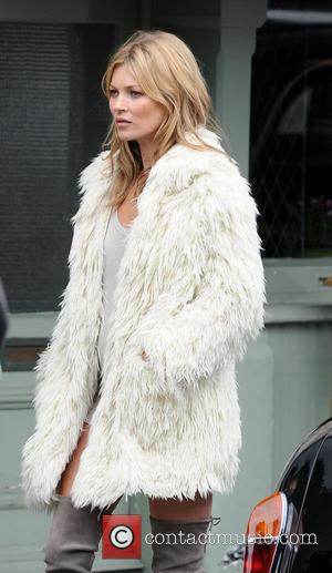 Kate Moss - Kate Moss pictured filming