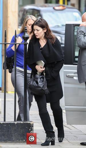 Nigella Lawson - Nigella Lawson arrives at Soho Hotel Little...