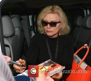 Debbie Harry - Debbie Harry aka Blondie and her band leave their hotel and arrive at The Olympia Theatre ahead...