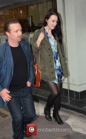 Saoirse Ronan and Father Paul Ronan