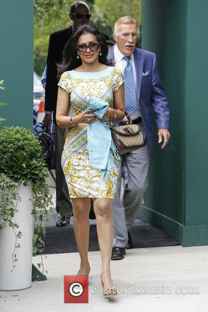 Bruce Forsyth and Wilnelia Merced - Wimbledon Tennis Championship 2013 - Day 3 - Celebrity Sightings - London, United Kingdom...